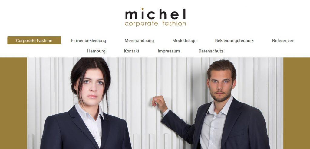 Firmenhomepage www.michel-corporatefashion.de by WebMichel
