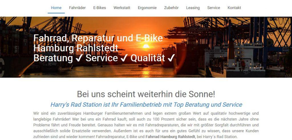 Internetseite www.harrysradstation.de by WebMichel